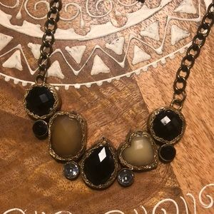 Francesca's multicolored neutral stone necklace